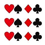 Unbekannt 12x Selbstklebend Poker Decals Papier Sticker Etiketten Sammelalbum Tagebuch Planer Dekor