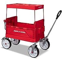 Radio Flyer, Beach & Boardwalk EZ Fold Wagon, Recycled Fabric (Red)