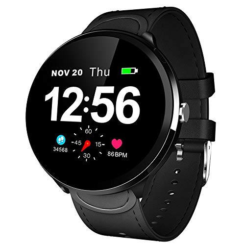 HBRT Business wasserdichte Multi-Sport Smart Watch, Full Touch Screen-Herzfrequenzüberwachung Armband Music Control IP67 Wasserdicht