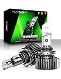 NOVSIGHT 9005/HB3 LED Headlight Bulbs, 20000 Lumens 600% Extremely Brighter High Beam Headlights Conversion Kit, 6500K Cool White, IP68 Waterproof, Brightest Halogen Replacement