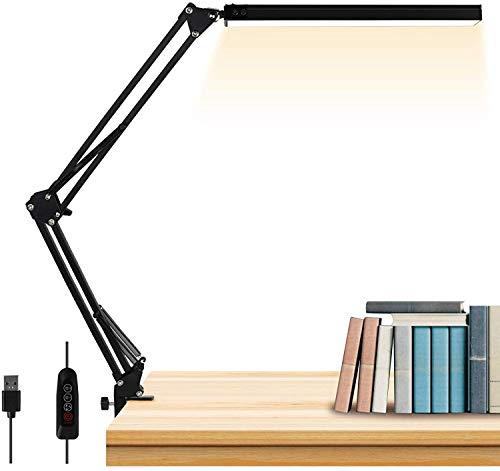 LED schreibtischlampe, StillCool Leselampe mit 3 Farb und 10 Helligkeiten, Tischlampe und Tageslichtlampe Augenschutz für Büro, Lesen, Studiere