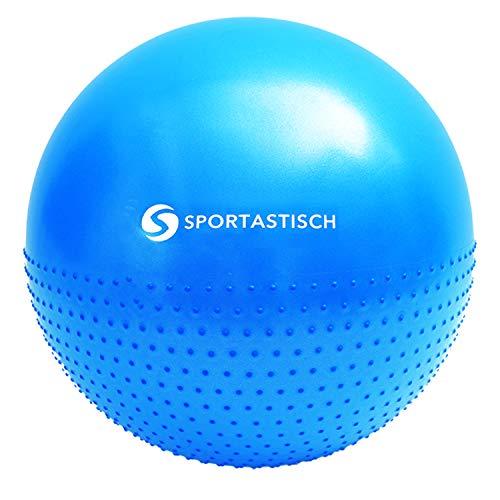 "Sportastisch Anti-Burst Gymnastikball ""Massage Gym Ball"" inkl..."