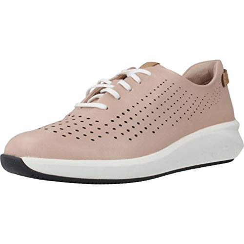 Clarks Un Rio Tie Womens Sports Shoes 41.5 EU Blush