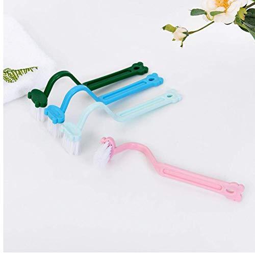 Edelstahl versenkbare 1Pc S-Form Toilettenreinigungsbürste Tragbare Toilettenbürste Scrubber S-Typ Reiniger Bürste Bent Bowl Griff