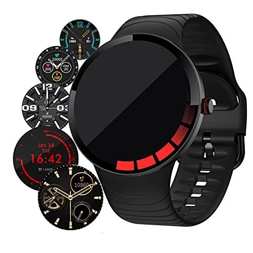 HQPCAHL Smartwatch Reloj Inteligente Hombre, Fitness Tracker con Monitor de Nivel SpO2 Monitorización de Frecuencia Cardíaca Sueño Caloría, Pulsera Actividad Android iOS,Negro
