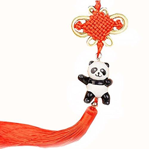 East Utopia Accessoires de Panda ornant l'ornement de Miroir de Vue arrière de Voiture Ornement