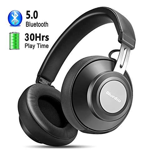 Cuffie Bluetooth 5.0, YINSAN Cuffie Over-Ear con Autonomia 30 Ore, Auricolari Bluetooth Senza Fili Stereo con Microfono, Headphones Wireless per Android Apple iPhone TV Film PC -2019 Versione (Nero)