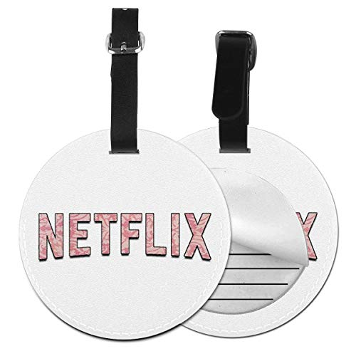 Slaytio Customizable Netflix Round Luggage Label Suitcase, PVC Wristband Suitcase Label