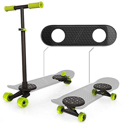 MORFBOARD Skate & Scoot Combo Set, Black/Black Color  [Amazon Exclusive]