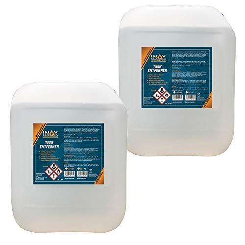 INOX® Teerentferner, 2 x 10L - Klebstoffentferner für Auto, Wohnmobil und Campingwagen