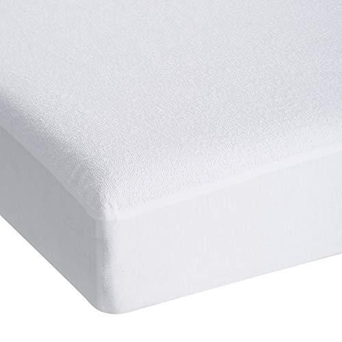 Kinzler C-03076/00 Betthygiene-Spannbettuch, 70 x 140 cm, für Kindermatratzen, PU-Beschichtet, weiss