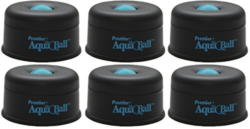 Martin Yale AQ701G Premier AquaBall All Purpose Moistener (Pack of 6), Black/Blue; Eliminates the need for sponges, rubber fingers, or unsanitary licking of fingers