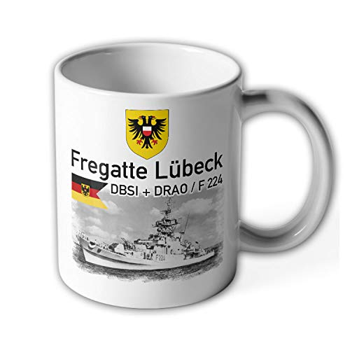 Fregatte Lübeck Rufzeichen DBSI DRAO F 224 Marine Bundesmarine - Tasse #15791