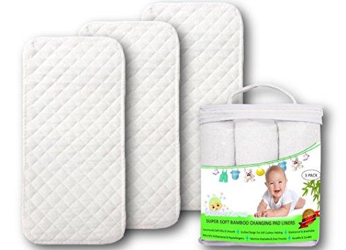 Premium Changing Pad Liners | Waterproof Antibacterial & Hypoallergenic |...