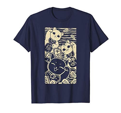 Maneki Neko - Design de style japonais chats chanceux T-Shir
