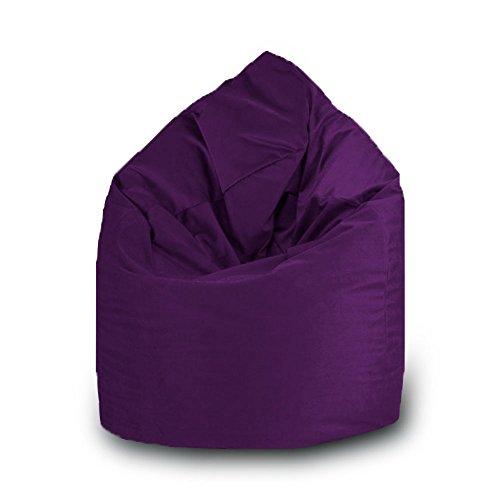 Beanbag Pouf en polyester imperméable pour extérieur XXL 100 x 140 cm Lilas