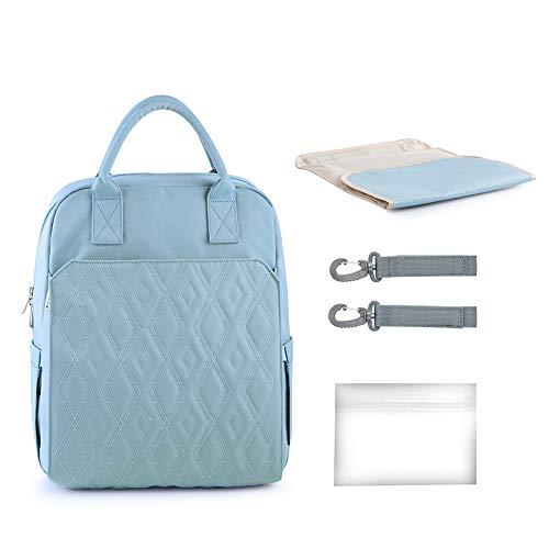Decdeal babyluierrugzak, luiertas met haak voor kinderwagen en luieronderlegger, reisrugzak, geïsoleerde tas voor onderweg