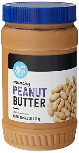 Amazon Brand  Happy Belly Crunchy Peanut Butter 40 Ounces