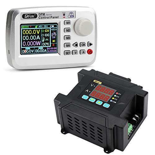 Droking Regulador de voltaje inalámbrico, módulo de fuente de alimentación CC 10-75 V a 0-60 V Convertidor reductor de control numérico programable, transformador de voltaje de 8 A con control remoto