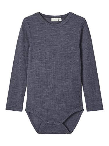 NAME IT NMMWANG Wool Needle LS Body Box Noos XX, azul ombre 1, 98 cm para Niños