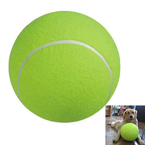 UEETEK 24CM Durchmesser Hund Chew Spielzeug Pet Ball Spielzeug Riesen Tennis Ball für große Haustier Spielen Ausübung