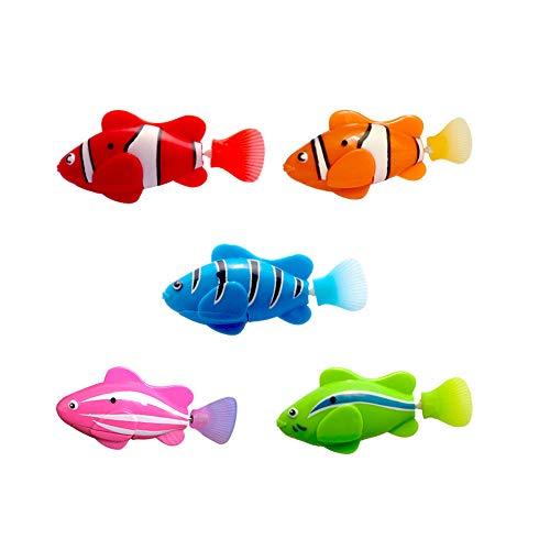 Kacniohen 5 Piezas De Pescado Eléctrica Animales Animales Goldfish Nadar En Aguas del Tanque del Bebé Bañera Regalo De Los Juguetes De Los Niños