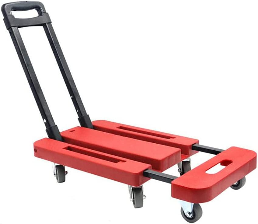 Push Cart Rolling Trolley 6-Wheel Max 77% OFF Platform 440 Cheap mail order sales with