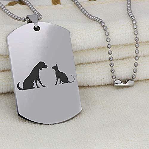 Yiffshunl Collar con Colgante de Amigos de Acero Inoxidable a la Moda, Regalo para Perros y Gatos para Amigos