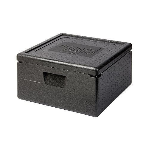 Thermo Future Box Quadratische Thermobx Kühlbox, Transportbox Warmhaltebox und Isolierbox mit Deckel,62 Liter Pizzabox Family XL,Thermobox aus EPP (expandiertes Polypropylen)