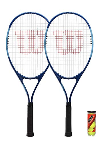 Wilson 2 x XL Tennisschläger Serie + 3 Tennisbälle (verschiedene Optionen)