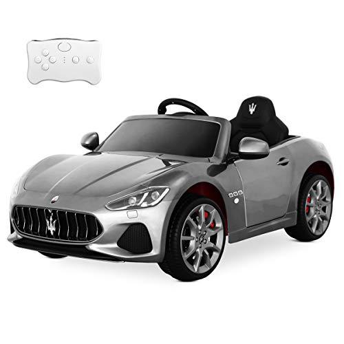 Playkin-1300021 Voiture élèctrique Batterie 12V Enfants 3-8 Ans Officielle Maserati, Argent