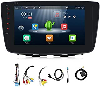 YUNTX in Dash Car Audio with GPS Navigation System for Baleno 2017, 2 Din Vehicle Radio with Android 7.1.1,8 Inch Muti-Touch Capacitive Screen
