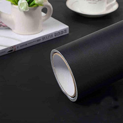 practicalWs (15.7' x118') Black Wallpaper Self Adhesive and Removable Peel and Stick Vinyl Film...