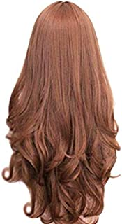 Long Slight Curls Wigs with Heat Resistant - Brown