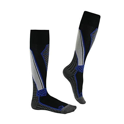 LIUXING-Home Herrenski-Socken 3 stücke Herren- und Damenski-Socken Outdoor Sports Sweat-saugbent lange warme Ski-Socken Sport-Socken im Freien. (Color : Dark blue, Size : Medium)