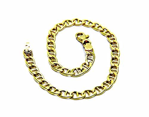 Bracciale da Ragazzo in Oro Giallo 18kt (750) Traversino Cm 18,5
