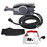 WXZQ Caja de Control Remoto para Barco Fuera de borda para 703 Cable de 10 Pines Mano Derecha Push Throttle Car Interior Decoration Set Negro