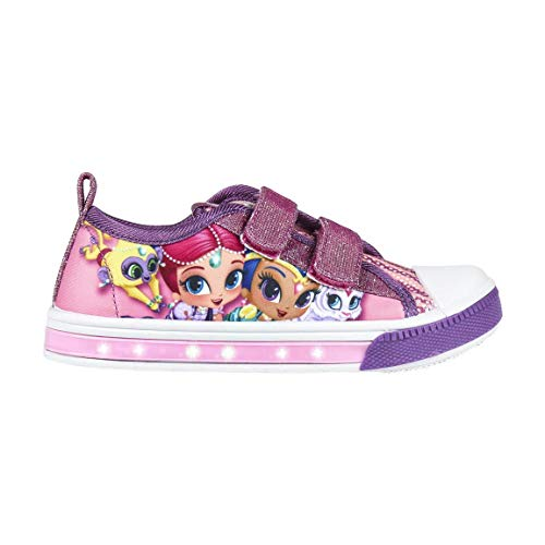 Cerdá Zapatilla Loneta Luces Shimmer and Shine, Niña, Rosa (Rosa C07), 24 EU