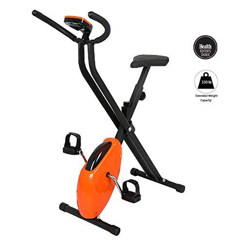 M-GLT Bicicleta estática Plegable, Bicicleta giratoria para el hogar, Equipo de Gimnasia para Interiores, pérdida de Peso, Adelgazamiento, Pantalla LED, Carga máxima 150 kg