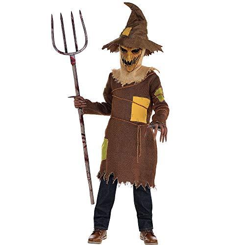 Amscan 847695 Boys Scary Scarecrow Costume, Medium (8-10), Multicolor