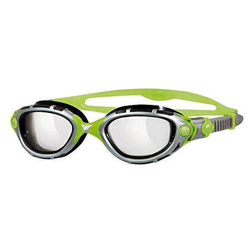 Zoggs Predator Flex Reactor Titanium Gafas de Natación, Hombre, Negro/Verde, Talla Única