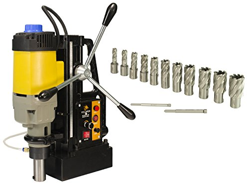 Steel Dragon Tools MD50 Magnetic Drill Press with 13pc 1in. HSS Annular Cutter Kit