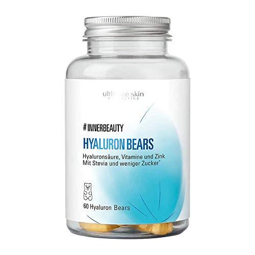 #INNERBEAUTY Hyaluron Bears – Hochdosiertes Fruchtgummi mit Mangogeschmack für ein schönes und jugendliches Erscheinungsbild der Haut – 60 Stück