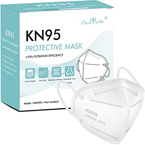 KN95 Face Masks for Protection - Filter Efficiency≥95% - 5 Layers Disposable Cup Dust Mask, Foldable Masks Against PM2.5, Dust, Air Pollution for Adult, Men, Women(20 PCS)