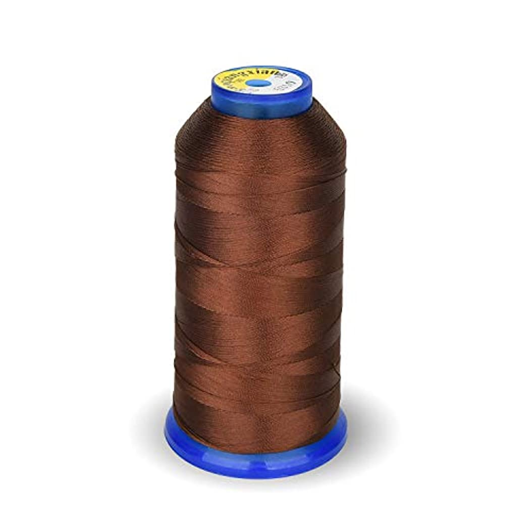 Bonded Nylon Sewing Thread 1800 Yard Size T70#69 210D/3 for Weaves, Upholstery, Jeans and Weaving Hair, Drapery, Beading, Purses, Leather (Coffee)