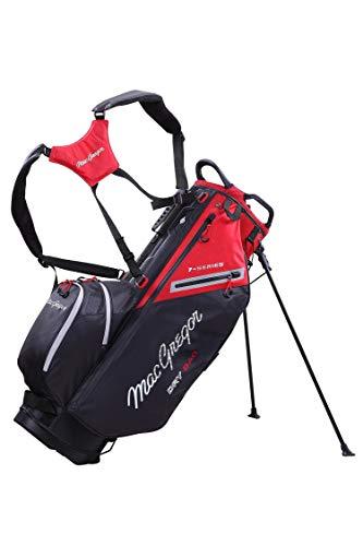 MACGREGOR MACTEC 7 Series - Bolsa para Palos de Golf Resistente al Agua, Color Negro y Rojo, Talla única