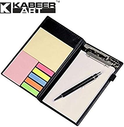 Kabeer Art Memo Note Pad / Memo Note Book With Sticky Notes & Clip Holder In Diary Style