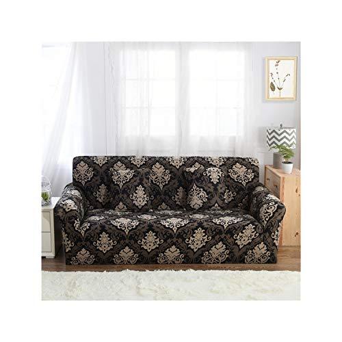 HGblossom Set mit elastischen Sofabezügen für das Wohnzimmer Sofahandtuch rutschfeste Sofabezüge für Haustiere Schonbezug aus Stretch-Sofa Farbe 21 Dreisitz 195-230 cm