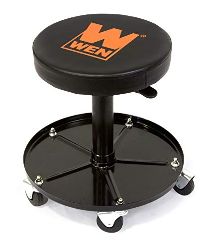 WEN 73012 300-Pound Capacity Pneumatic Rolling Mechanic Stool Seat