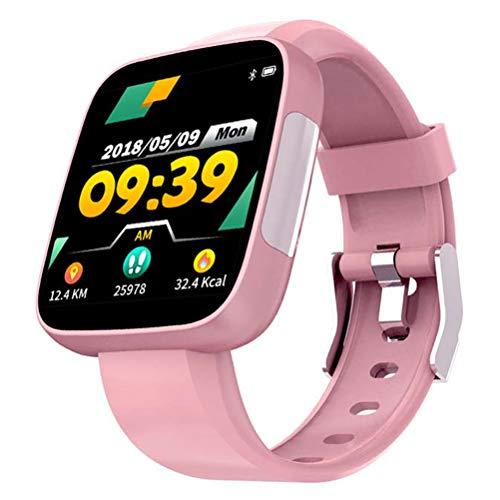 WY-H Reloj Inteligente T5, Pantalla en Color, Pulsera Inteligente, Monitor de Movimiento Impermeable, podómetro para monitorizar la presión Arterial, para iOS y Android